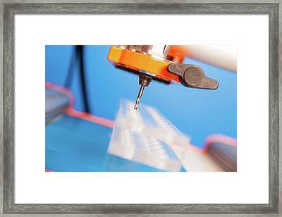 Cnc Router Framed Print by Wladimir Bulgar