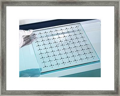 Co-ordinate Measuring Machine Standard Framed Print by Andrew Brookes, National Physical Laboratory