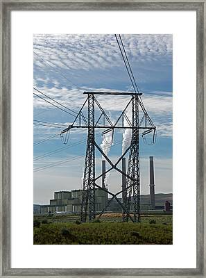 Coal-burning Power Station Framed Print