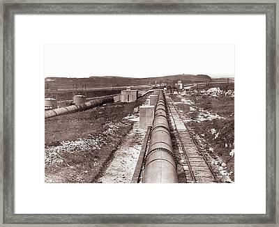 Coal Dust Explosion Gallery Framed Print by Crown Copyright/health & Safety Laboratory Science Photo Library