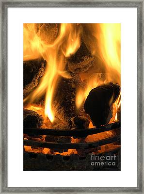 Coal Fire Framed Print by Duncan Shaw