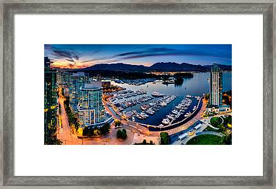 Coal Harbour In Vancouver Framed Print