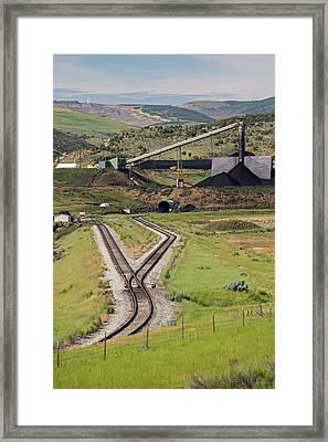 Coal Mine Rail-loading Facility Framed Print