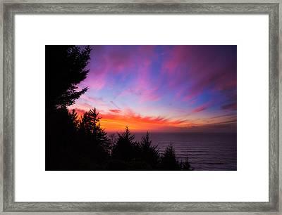 Coastal Skies Framed Print by Darren  White