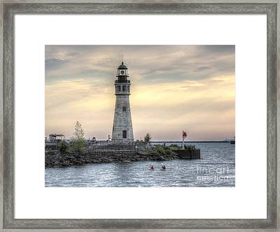 Coastguard Lighthouse Framed Print