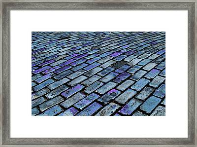 Cobblestones From Ship's Ballast Or Framed Print by Miva Stock