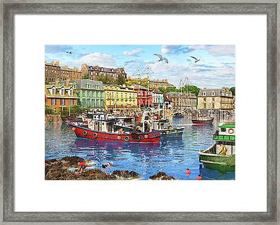 Cobh Harbour Framed Print by Dominic Davison