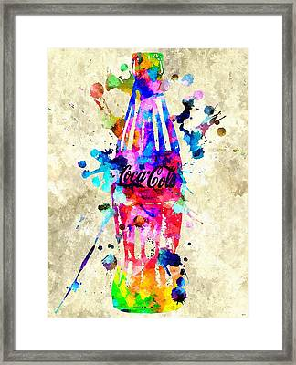Coca-cola Framed Print by Daniel Janda