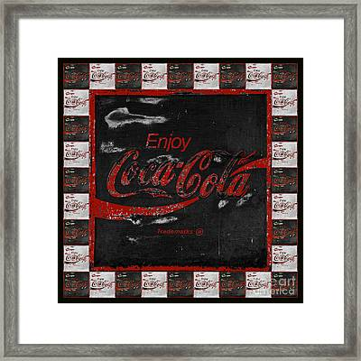Coca Cola Signs Framed Print by John Stephens