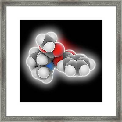 Cocaine Drug Molecule Framed Print
