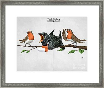 Cock Robin Framed Print by Rob Snow