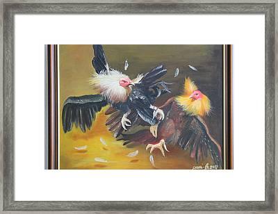 Cockfight  Framed Print by Gani Banacia