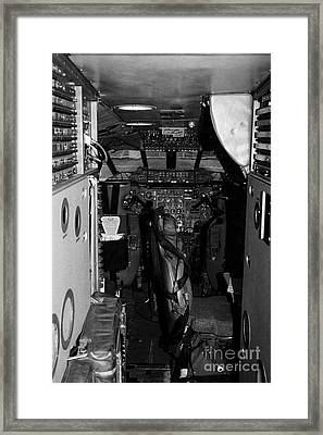 cockpit of the British Airways Concorde Framed Print