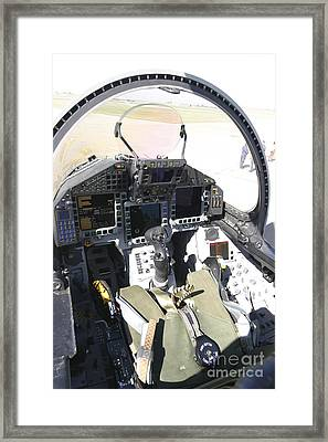 Cockpit View Of A Eurofighter Typhoon Framed Print by Timm Ziegenthaler