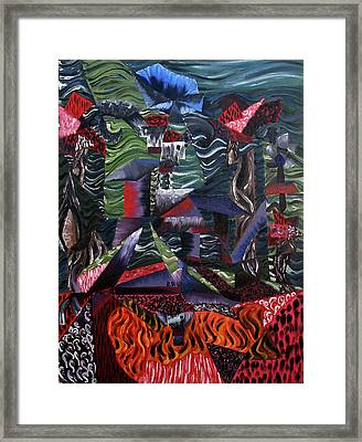 Framed Print featuring the painting Cocytemensia by Ryan Demaree