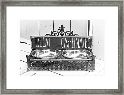 Coffee Bean Holder Framed Print by Tom Gowanlock
