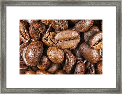 Coffee Beans Detail Framed Print