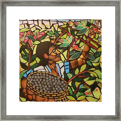 Coffee On My Mind Framed Print by Mary Ellen Bowers