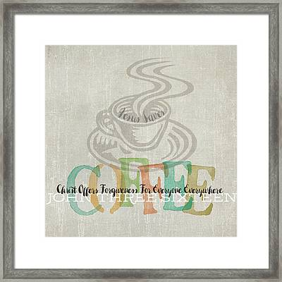 Coffee Framed Print by Tammy Apple