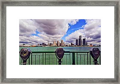 Coin-operated Binoculars Framed Print