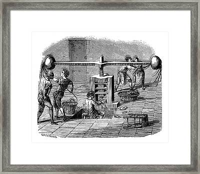 Coin Production Framed Print by Science Photo Library