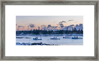 Cold Day In Maine  Framed Print