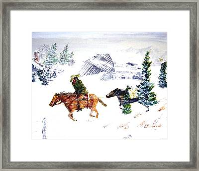 Cold Wind. Framed Print