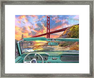 Colden Gate From A Car Framed Print by Dominic Davison