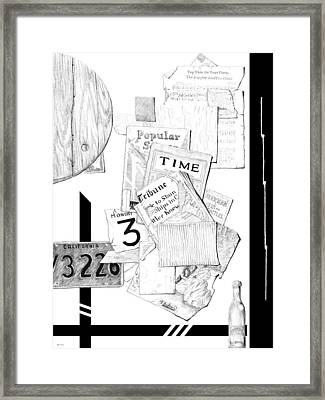 Collage #3 Framed Print by Carl Genovese