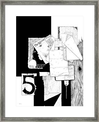 Collage #5 Framed Print by Carl Genovese