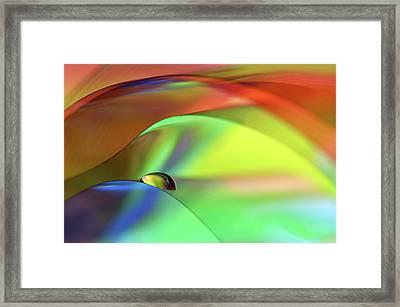 Color Cascade Framed Print