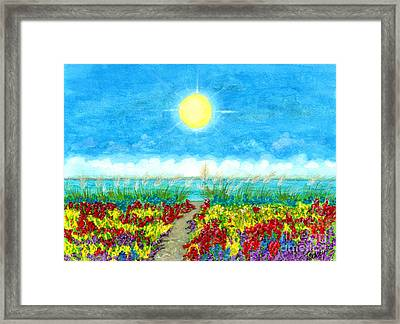 Color Path Framed Print by Tina Zachary