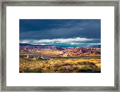Color Storm No. 2 Framed Print