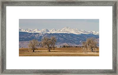 Colorado Front Range Continental Divide Panorama Framed Print by James BO  Insogna
