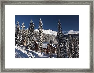 Colorado Mountain House Framed Print by Michael J Bauer