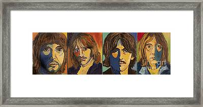 Framed Print featuring the painting Colorful Beatles by Jeanne Forsythe