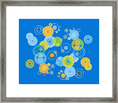 Colorful Circles Framed Print by Frank Tschakert