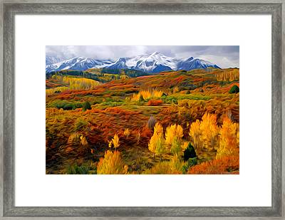 Colorful Colorado At It's Best Framed Print