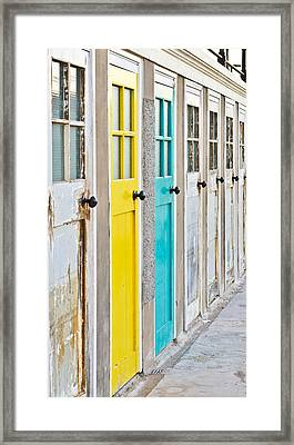 Colorful Doors Framed Print