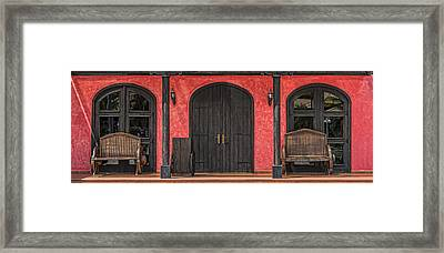 Colorful Mexican Doorway Framed Print