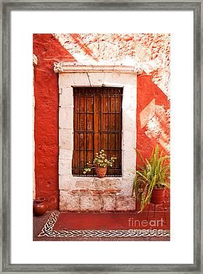Colorful Old Architecture Details Framed Print by Yaromir Mlynski