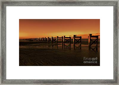 Colorful Pier Framed Print