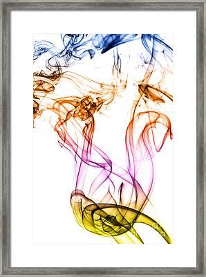 Colorful Smoke Abstract Framed Print