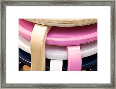 Colorful Stools Framed Print by Tom Gowanlock