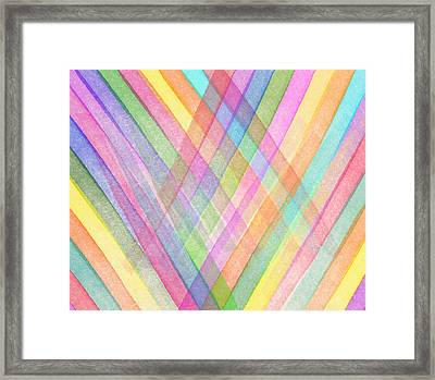 Colorful Stripes Framed Print