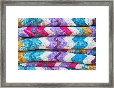 Colorful Towels Framed Print