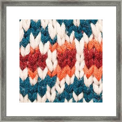 Colorful Wool Framed Print by Tom Gowanlock