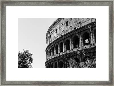 Colosseum - Rome Italy Framed Print by Andrea Mazzocchetti