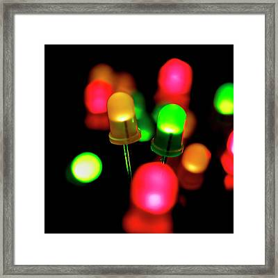 Coloured Leds Framed Print