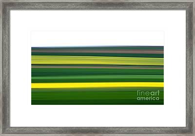 Colourful Landscape Framed Print by Bernard Jaubert